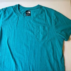The North Face girls teal t-shirt size XL